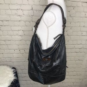 BCBGMAXAZRIA Black Leather Purse